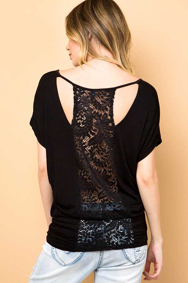 LACE BACK TUNIC TOP