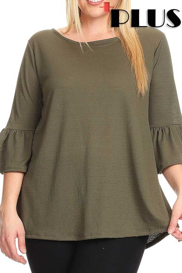 SOLID ROUND NECK TOP