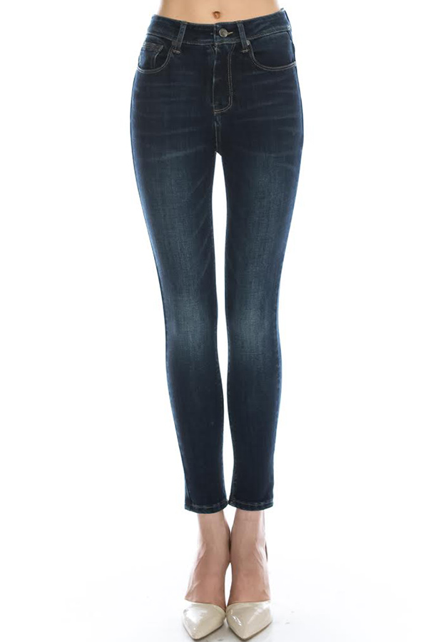 SOLID HIGH WAIST JEANS