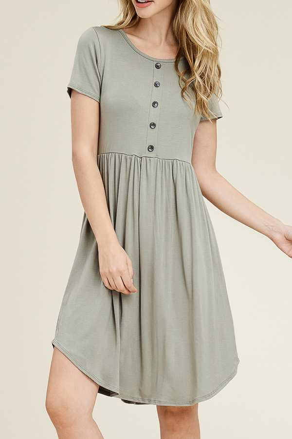 SOLID A-LINE MIDI DRESS