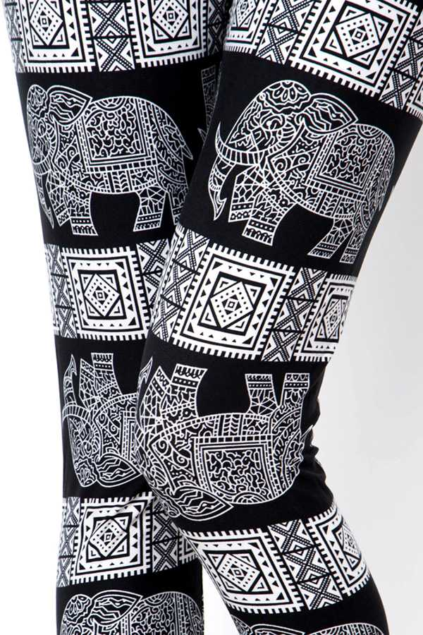 ELEPHANT PRINT LEGGINGS