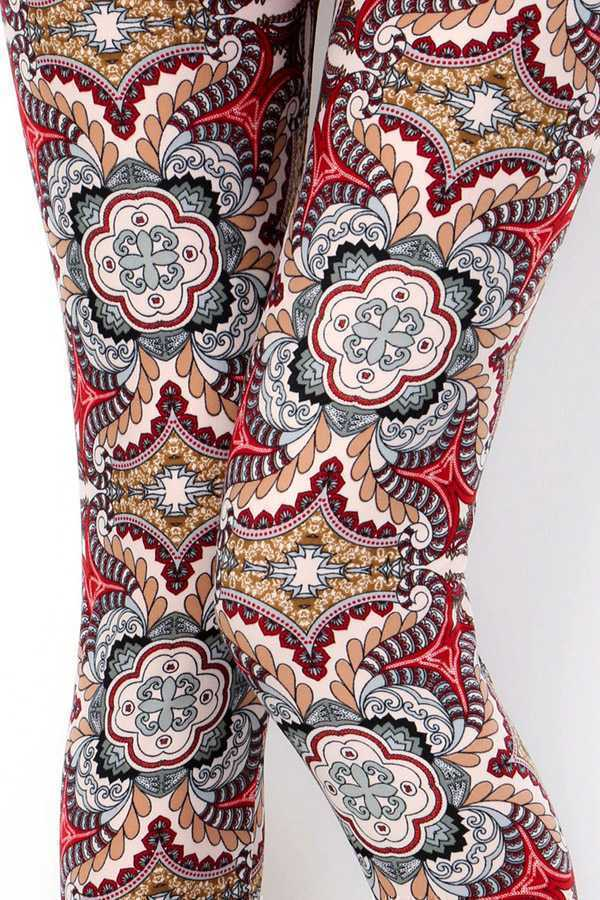 UNIQUE PAISLEY PRINT LEGGINGS