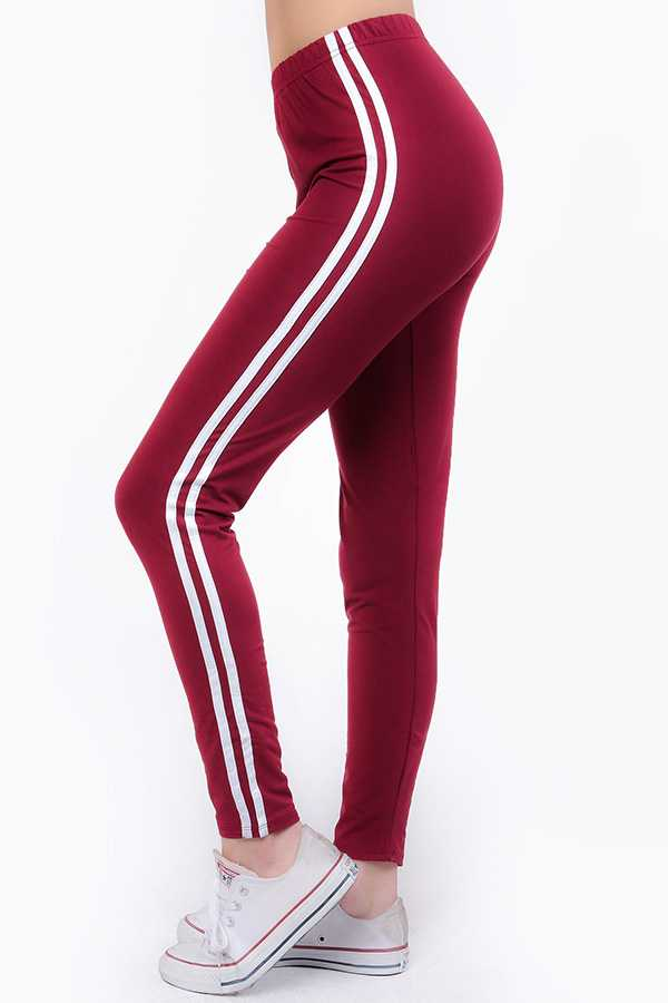 SOLID STRIPED SIDE LEGGINGS