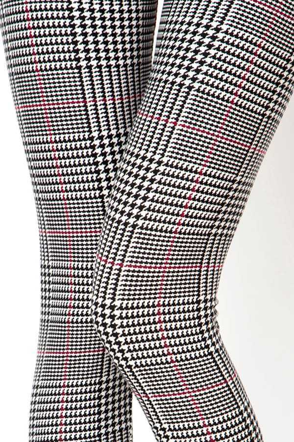 UNIQUE HOUNDSTOOTH PRINT LEGGINGS