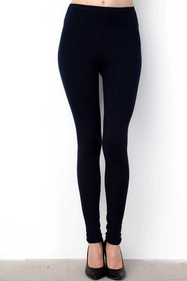 YOGA WAIST SOLID BRUSHED LEGGINGS