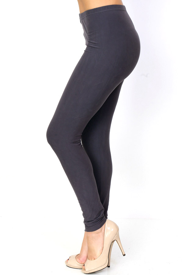 SOLID BRUSHED LEGGINGS