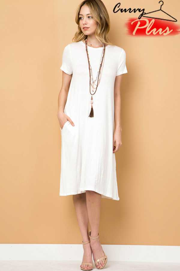 SOLID SWING DRESS