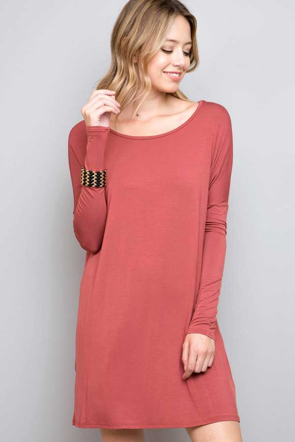 SOLID MODAL LONG TUNIC