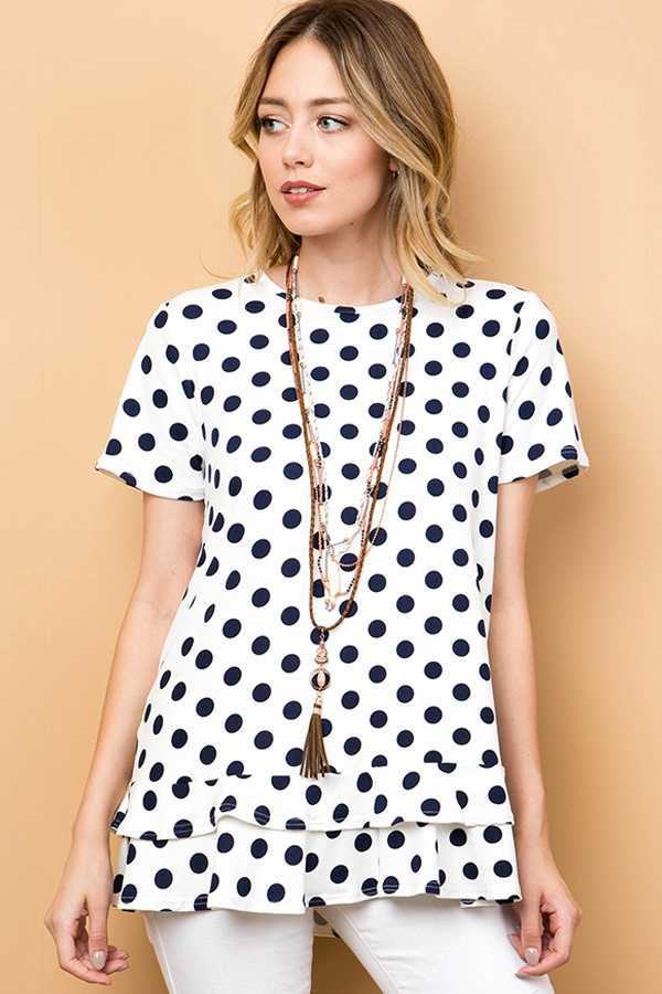 POLKADOT LAYERED TOP