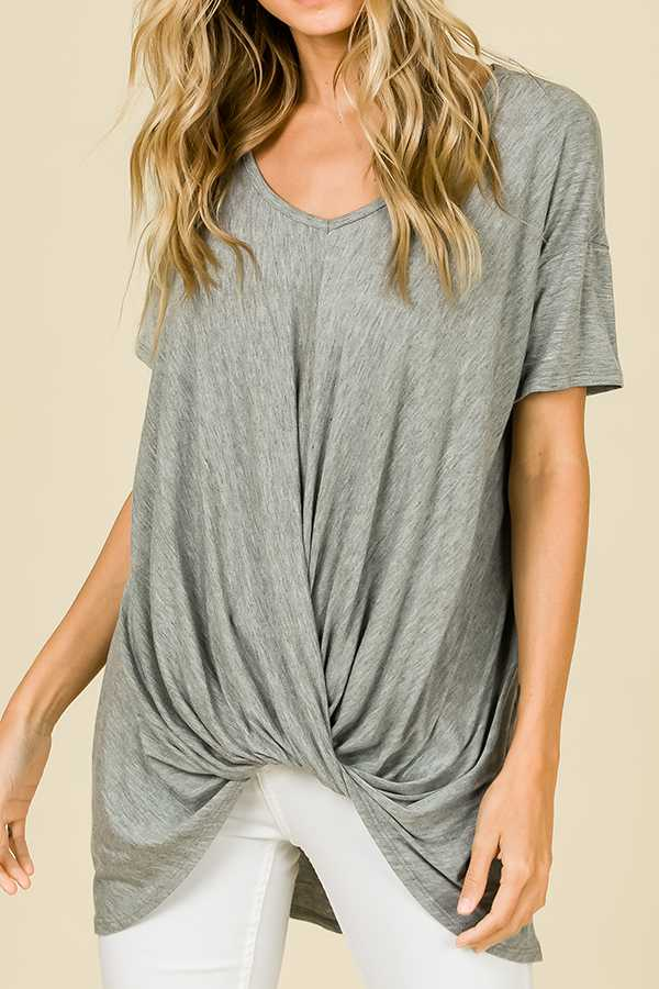 SOLID HI-LO TUNIC TOP