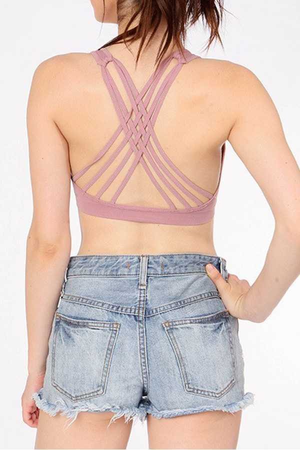SOLID STRAPPY BACK ACTIVE BRA