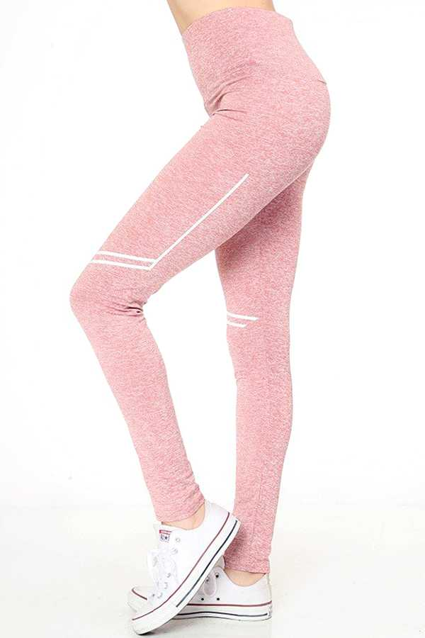MARLED ACTIVE YOGA PANTS WITH STRIPE PRINT