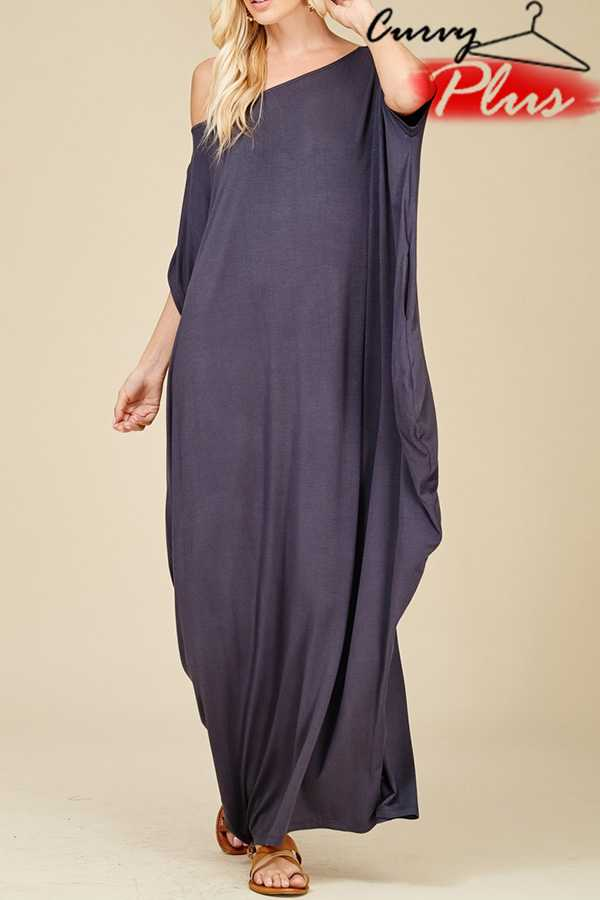 SOLID JERSEY MAXI DRESS