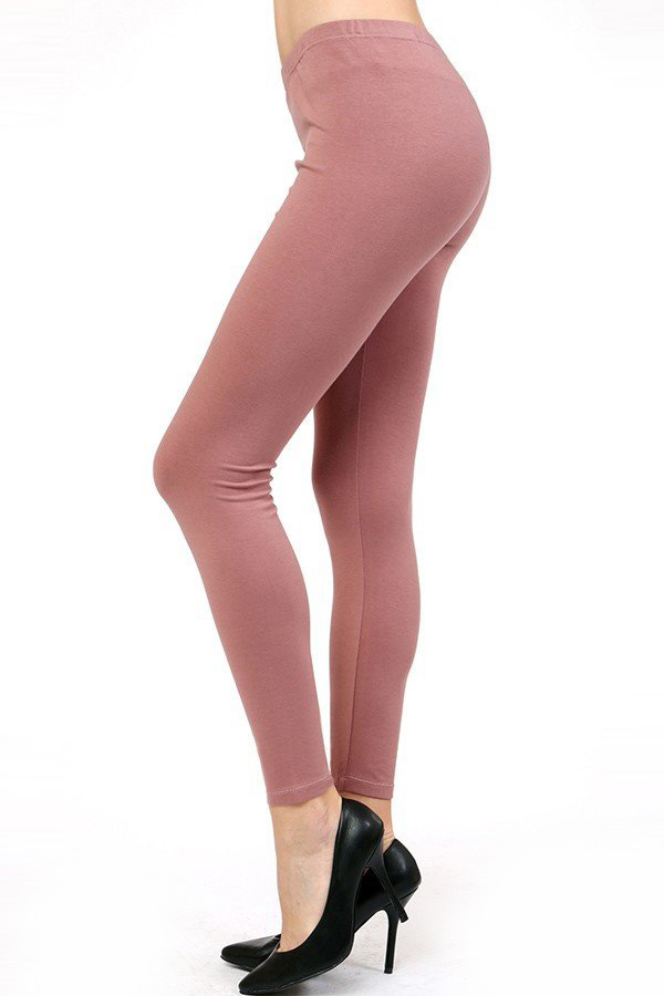 COTTON SPAN SOLID LEGGINGS