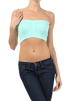 SEAMLESS PINTCH TUBE BRA TOP