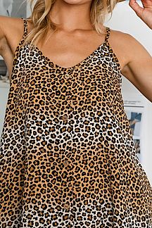 ANIMAL PRINT WOVEN CAMI TOP