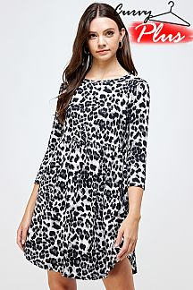 LEOPARD PRINT FIT AND FLARE DRESS