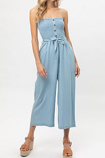 SOLID TANK TOP TENCEL JUMPSUIT