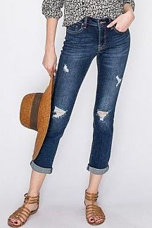 SOLID DENIM LEG FIT JEAN