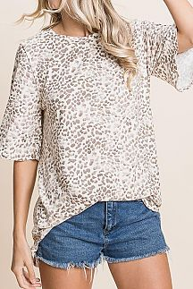 ANIMAL PRINT LOOSE FIT TOP