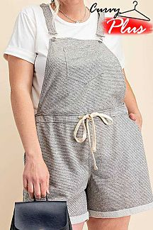 STRIPED FRENCH TERRY OVERALL