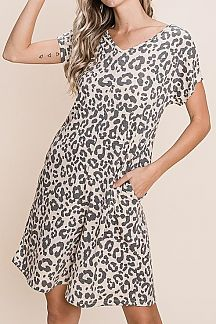 ANIMAL PRINT SHORT SLEEVE ROMPER