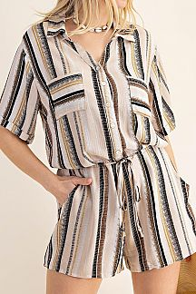 STRIPE SAFARI ROMPER