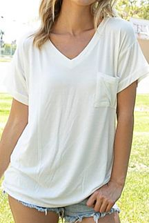 SOLID SHORT SLEEVE BOXY TOP