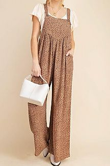 ANIMAL PRINT OVERALL JUMPSUIT