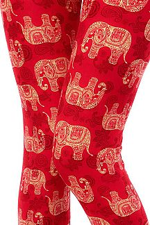 ETHNIC ELEPHANT PRINT LEGGINGS