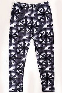 KIDS UNIQUE PRINT BRUSHED LEGGINGS