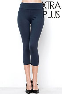 EXTRA PLUS SIZE YOGA BAND CAPRI LEGGINGS
