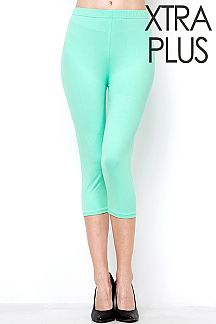 XTRA PLUS SIZE CAPRI LEGGINGS