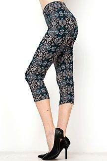 ETHNIC PRINT CAPRI LEGGINGS