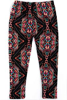 KIDS AZTEC PRINT LEGGINGS