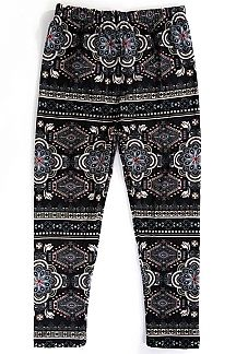 KIDS ETHNIC PRINT LEGGINGS