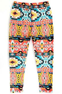 KIDS NAVAJO PRINT LEGGINGS