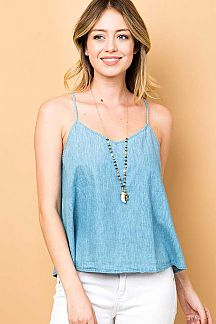 CHAMBRAY CAMI TOP