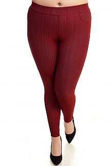 PLUS SIZE STRETCH JEGGINGS