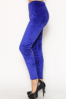 VELOUR LEGGINGS WITH FUR LINING