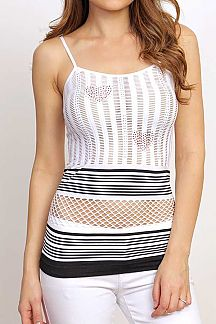 FISHNET CAMI TOP