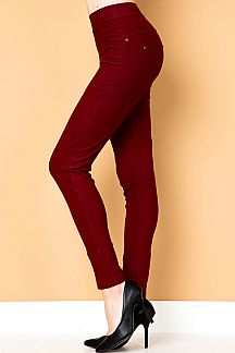 PREMIUM SOLID STRETCH JEGGINGS