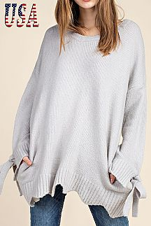 [PREORDER 11/30/18] SOLID TUNIC SWEATER
