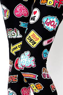 POP UP LABEL PRINT LEGGINGS