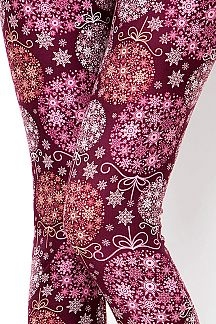 CHRISTMAS ORNAMENTS PRINT LEGGINGS