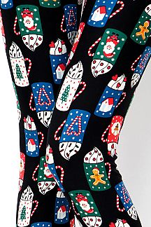 CHRISTMAS MUG PRINT LEGGINGS