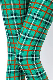 SAINT PATRICK'S DAY PLAID PRINT LEGGINGS