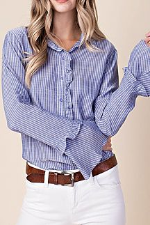 STRIPED PRINT BUTTON-DOWN SHIRTS