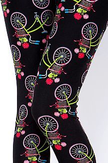 BICYCLE PRINT LEGGINGS
