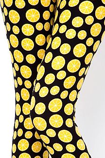 LEMON PRINT LEGGINGS